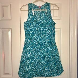 Blue Lilly Pulitzer cordon racerback dress